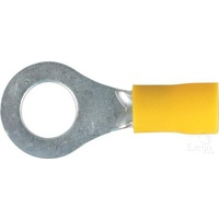 Crimp Terminal Ring Yellow ID 8.4mm Vinyl