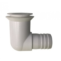 Waste Outlet 25mm Right-angled (White)