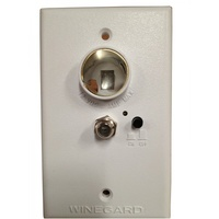Winegard Wall Plate - Booster and Power Supply (White)