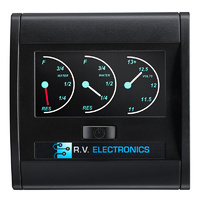 RV Electronics LCD Dual Tank Water Level Indicator & Voltmeter