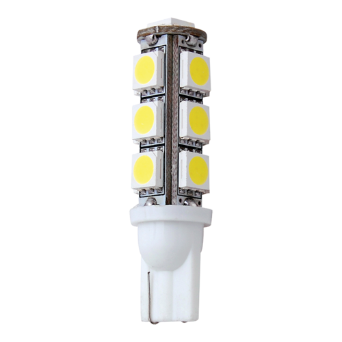 LED T10 Wedge Replacement Bulb, 13 LEDs (Cool White)